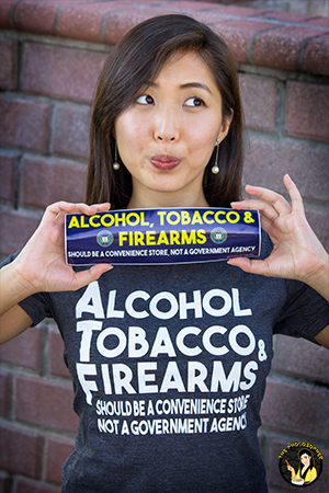 Alcohol tobacco and firearms tee